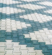 Paving block DOUBLE T